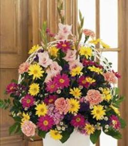 Cook Southland Funeral Chapel - Spring Colors in Basket